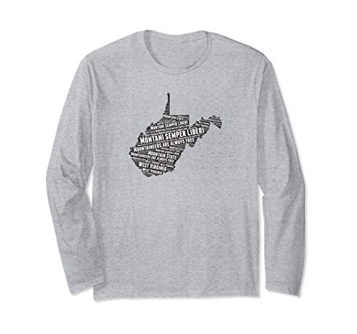 West Virginia State Motto word map Long Sleeve - Motto Virginia State
