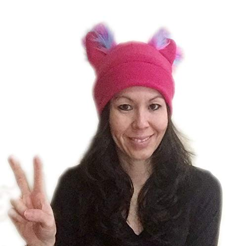 aa37f2cabf3009 Bianna Creations Handmade Pussycat Hat, Kitty Pussy Cat Hat with Ears Beanie,  Fleece Pussyhat, Womens Women's March US - Buy Online in UAE.