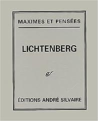 Lichtenberg par Georg Christoph Lichtenberg
