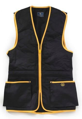 Beretta Men's Trap Cotton Shooting Vest, Black, 3X-Large