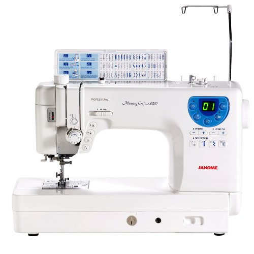 Janome MC-6300P Professional Heavy-Duty Computerized Quilting Sewing Machine w/Extension Table, Walking Foot, Darning Foot and More!]()