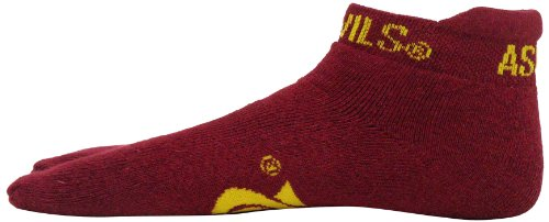 Donegal Bay NCAA Virginia Tech Hokies Flip Flop Footie Socks, Maroon/Burnt Orange