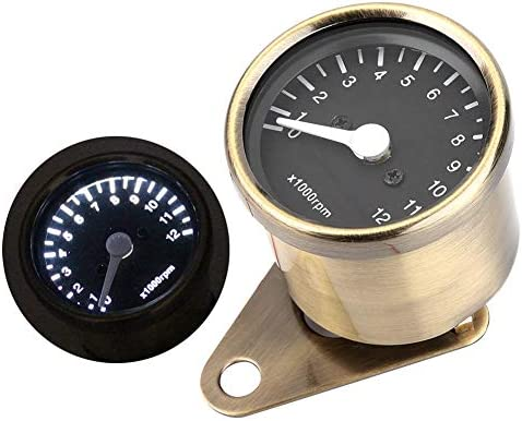 Motorrad Drehzahlmesser Mechanischer Drehzahlmesser Led Drehzahlmesser Geschwindigkeitsmesser 12v Universal Autocycle Zubehör Messing Auto