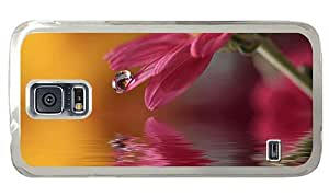 Hipster Samsung Galaxy S5 Cases wholesale flower drop macro PC Transparent for Samsung S5 by lolosakes
