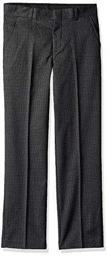 Chaps Boys' Flat Front Pant, Dark Charcoal, 10