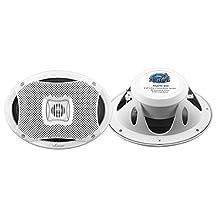 Lanzar Pyle 500W 6-Inch x 9-Inch 2-Way Marine Speakers AQ69CXW (White)