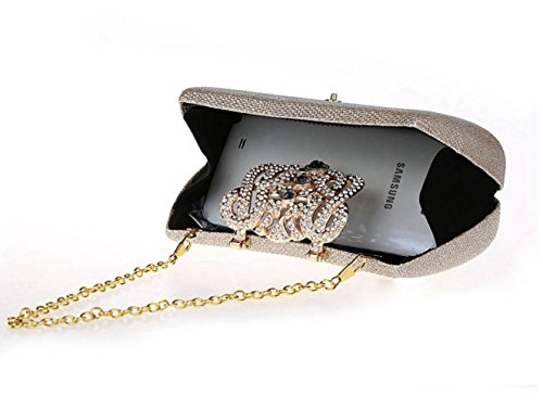 Flash Femmes à Portable cosmétique soirée la embrayage sac Champagne style sac à multicolore FZHLY mode sac bandoulière strass Cross de robe Gold zSzdYq