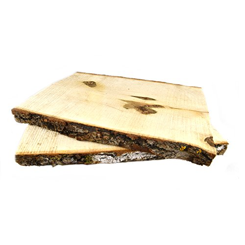 """Natural UNTREATED Basswood Planks 11"""" Long x 7""""-9""""-Excellent for Weddings, Centerpieces, Signs, DIY Projects, Table Chargers or Decoration! by Woodland Decor -Set of 2"""