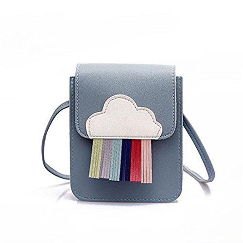 Bolsa De Para Bolso Nueva Blue Color De Moda Hombro Única Azul Franja Dama GWQGZ EC1twvqE