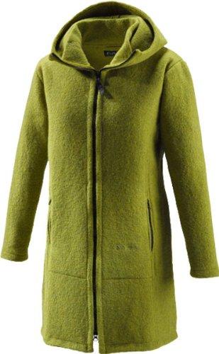 Muflón Jana para mujer-lana-capa corta verde