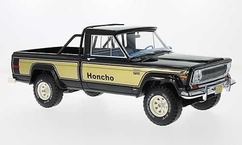 Jeep J10 Honcho, black/gold, 1976, Model Car, Ready-made, BoS-Models 1:18