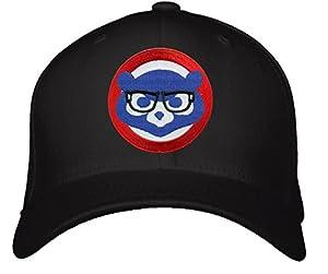Chicago Cubs Hat - Joe Maddon Harry Caray Glasses - Adjustable Mens Black