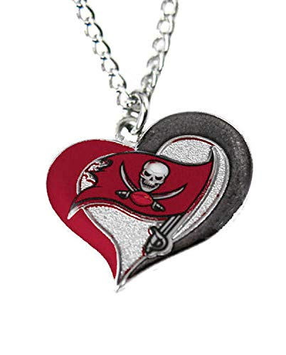 aminco NFL Tampa Bay Buccaneers Swirl Heart Necklace