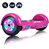 Felimoda Self Balancing Hoverboards with LED Light, 6.5 Inch Two Wheel Smart Electric Scooter for Kids and Adults-UL2272 Certified (Purple)