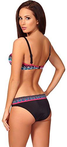 Antie Parte Superior del Bikini Para Mujer Bahia Negro/Amaranto