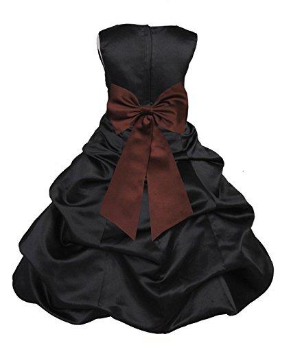 ekidsbridal Wedding Pageant Black Flower Girl Dress Pick-up Reital Communion Gown 808t 2