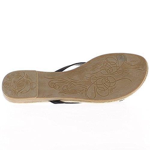 Lack weiß Flip Flops um 0,5 cm talonette
