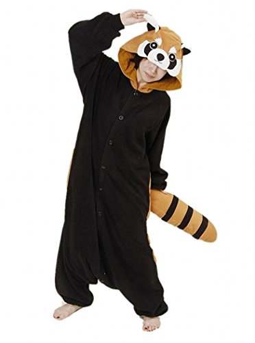 Red Panda Costume (Sweetdresses Adult Unisex Animal Sleepsuit Kigurumi Cosplay Costume Pajamas (X-Large, Red Panda))