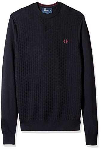 Fred Perry Oxford Texture Crew Neck, Maglione - XL