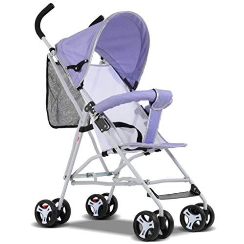 KYAWJY ベビーカーBB子供のための折りたたみ簡単な折りたたみ式ベビー四輪ベビーカーベビーカーは飛行機に乗ることができます (Color : Purple)   B07PBB594L