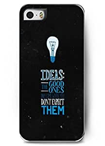 Iphone 5 Case OUO Design ideas: the good ones only come when you don't expect them Bible verse Hard Plastic Christian Verses Inspirational and motivational life quotes