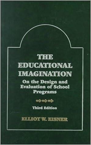 The Educational Imagination: On The Design And Evaluation Of School Programs Descargar PDF Gratis