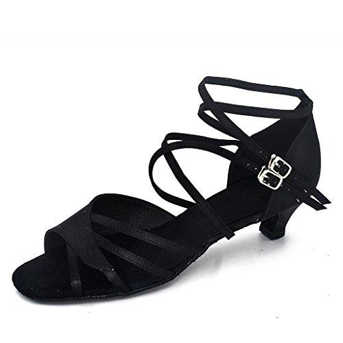misu , Damen Tanzschuhe Schwarz schwarz