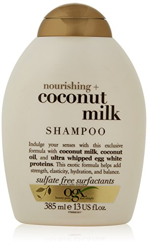 13 Ounce Shampoo (OGX Shampoo Nourishing Coconut Milk, (1) 13 Ounce Bottle, Paraben Free, Sulfate Free, Sustainable Ingredients, Strengthens, Hydrates, Balances and Restores Elasticity)