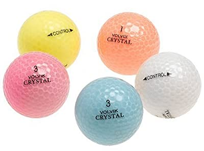 Crystal Mixed Colors Recycled Golf Balls, 48 Pack w/mesh bag (Colors May Vary)