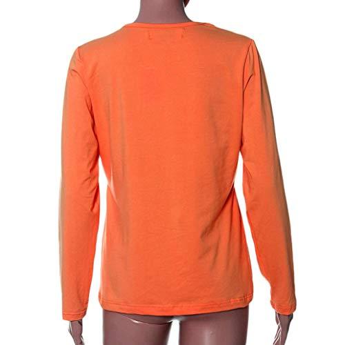 Embarazadas Maternity Breastfeeding Amphia Ropa Tops Vestido Clothes Long Shirt Pregnant Sleeve L Naranja Nursing T IqqU1wA5x