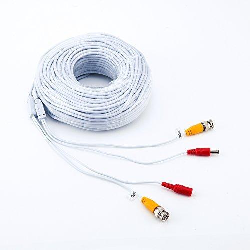 Nueva hosecurity 18,3m 50m pre-made All-in-One siamés Cable coaxial BNC Video y alimentación para CCTV Cámara de...