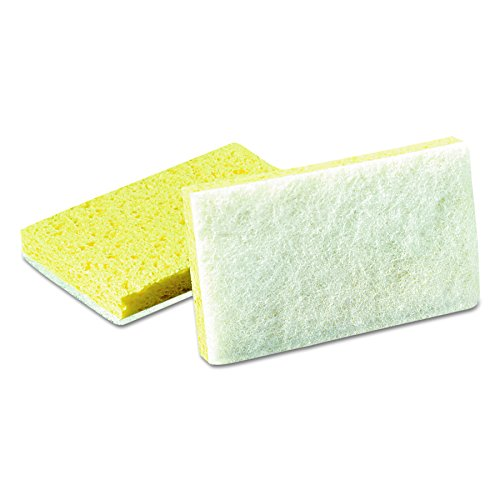 Scotch-Brite PROFESSIONAL 08251 Light-Duty Scrubbing Sponge, #63, 3 1/2 x 5 5/8, Yellow/White (Case of 20)