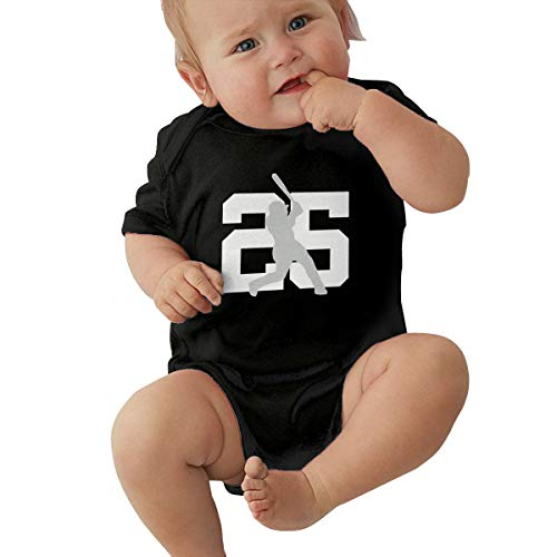 Unisex Baby Onesie Bodysuit New York Torres 25 Short-Sleeve Bodysuit for Boys and Girls Black