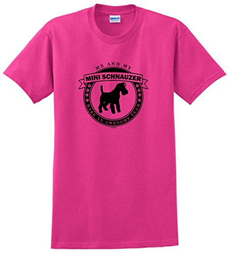 Dog Clothes Me and My Miniature Schnauzer Make an Awesome Team T-Shirt Small Hlcna