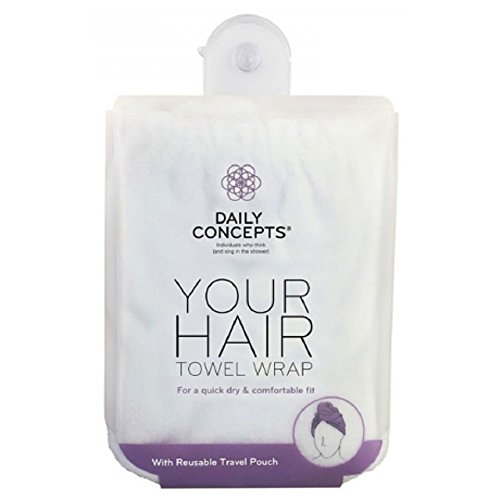 Daily Concepts Your Hair Towel Wrap, White by Daily Concepts