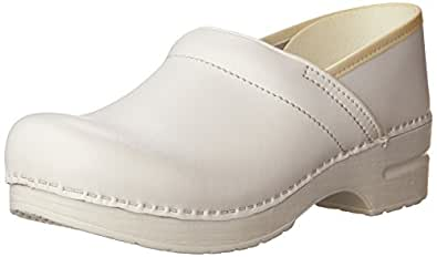 Dansko Women's Professional Box Leather Clog,White,35 EU / 4.5-5 B(M) US
