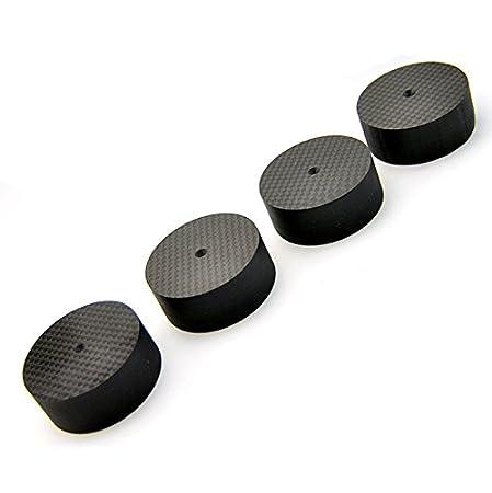 Amazon.com: 4pcs Altavoz de 50 20 mm Fibra de Carbono Cono ...
