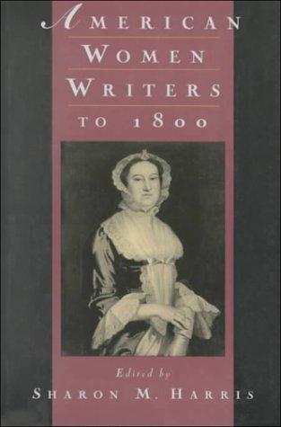 American Women Writers to 1800