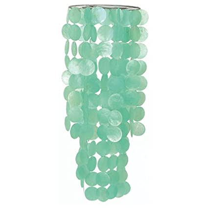 Amazon turquoise capiz chandelier light shade fair trade turquoise capiz chandelier light shade fair trade product aloadofball Image collections