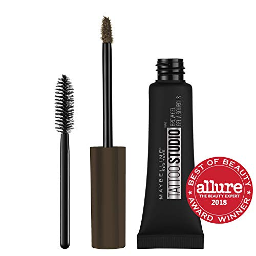 Maybelline New York TattooStudio Waterproof Eyebrow Gel Makeup, Deep Brown, 0.23 fl. oz.