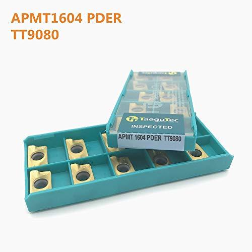 1 lot 10PCS CNC turning tool APMT1604 PDER TT9080 high precision carbide blade milling cutter end milling cutter Tokarnyy lathe cutter