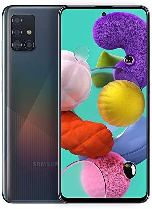 Samsung Galaxy A51 A515F 128GB DUOS GSM Unlocked Phone w/Quad Camera 48 MP + 12 MP + 5 MP + 5 MP (International Variant/US Compatible LTE) - Prism Crush Black