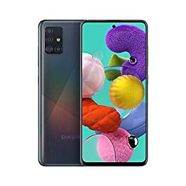 Samsung Galaxy A51 A515F 128GB DUOS GSM Unlocked Phone w/Quad Camera 48 MP + 12 MP + 5 MP + 5 MP (International Variant/US Compatible LTE) – Prism Crush Black