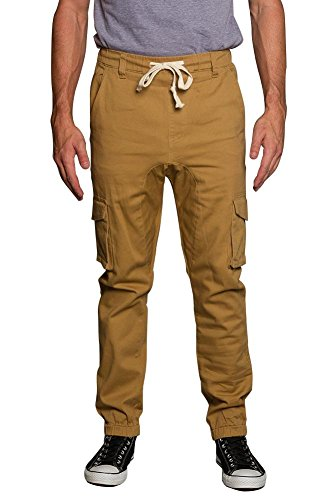 Price comparison product image Victorious Men's Jogger Twill Cargo Pants -3- JG805 - WHEAT - 2X-Large