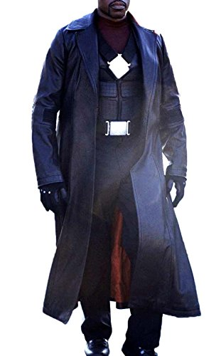 Blade Wesley Snipes Costume Cosplay Ideas Black Leather Coat For Halloween L - Trench Coat Halloween Costume Ideas
