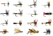 Feeder Creek Fly Fishing Lures, Wet and Dry Fly Assortment for Trout, Bass, Panfish, Salmon and Other Freshwat
