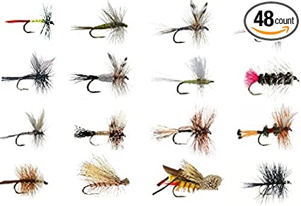 Trout flies Choice of sizes 6 Black Bobs Bits Dry Fishing Flies Bobs Bits