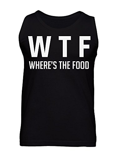 Where's The Food ? WTF acronym Men's Tank Top