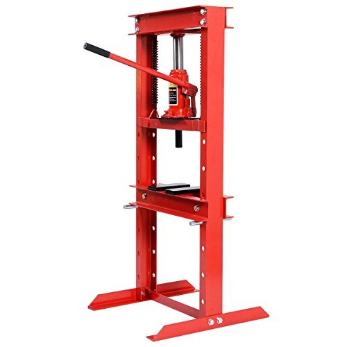 or Shop Press H-Frame with Heavy Duty Steel Plates, 12 Ton Capacity ()