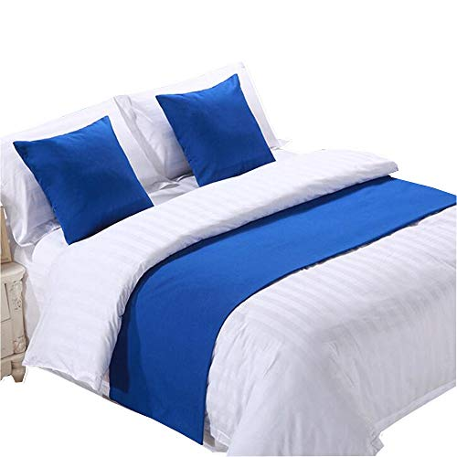 YIH Blue Bed Scarf for Foot of Bed 94